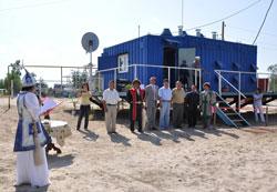 Торжественное открытие электростанции на основе микротурбин Capstone в поселке Тыайа (Якутия)