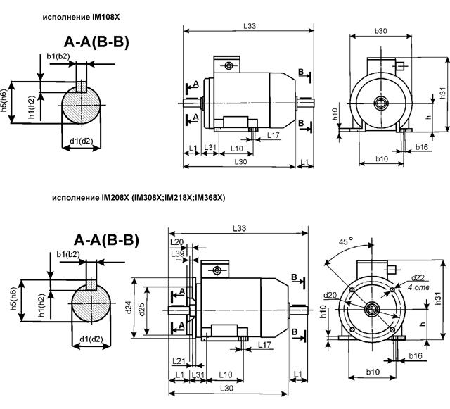 Электродвигатель АИР, АИРМ, АД, А, трехфазные асинхронные электродвигатели переменного тока серии АИР